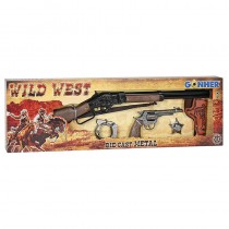 Wild West Set Gonher 8 Tiros Rifle y Revolver 498/0